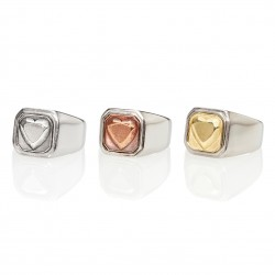 Heart Square Signet Ring