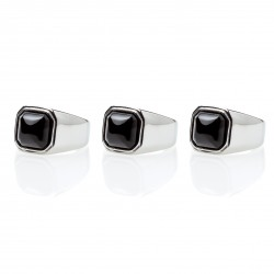 Onyx Square Signet Ring
