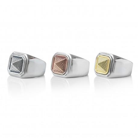 Pyramid Square Signet Ring