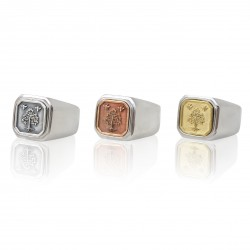 Tree Square Signet Ring