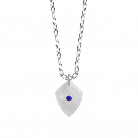 Shield Necklace Large Silver
