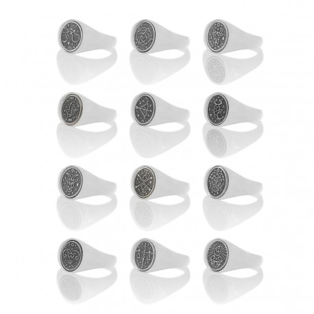 Astro Oval Signet Ring