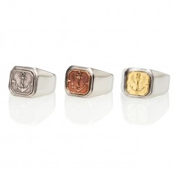Anchor Square Signet Ring