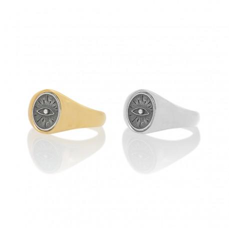 Eye Oval Signet Ring