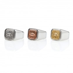 Eye Square Signet Ring