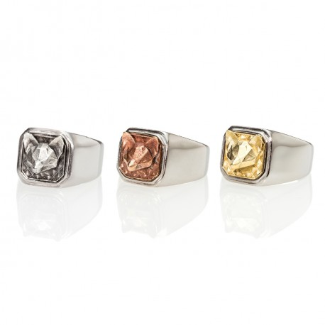 Fox Square Signet Ring